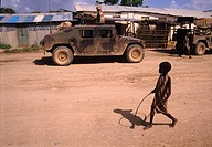 December 16, 1992. Baidoa, Somalia. US Marines delivering food aid to the famine stricken people in the Somali countryside. Late in 1992, troops from ...