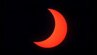 Annular Solar Eclipse, partial phase, El Paso, TX, 5/10/94. 14 of 18.