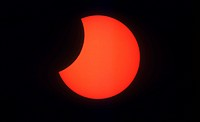 Annular Solar Eclipse, partial phase, El Paso, TX, 5/10/94. 16 of 18