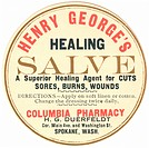 A vintage label for healing salve