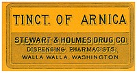 A vintage medical tincture label