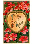 A vintage To My Sweet Heart Valentines card