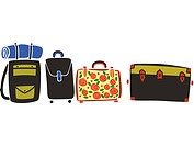 A row of suitcases and luggage (thumbnail)