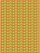 Green circles on a brown background