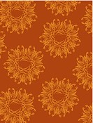 Fancy orange flowers on a brown background