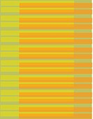 Lime and orange piano key pattern on a green background