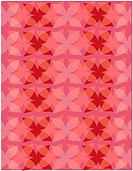 Retro pink and red flower pattern
