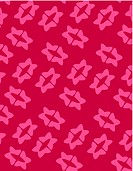 Retro pink flower shapes on red background