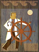 A physician steering a ship (thumbnail)