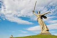 The Motherland Calls statue in Mamayev Kurgan commemorating the Battle of Stalingrad, Volgograd (formerly Stalingrad), Volgograd Oblast, Russia