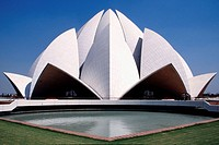 The Bahá'í House of Worship in Delhi, India, popularly known as the Lotus Temple due to its flowerlike shape, is a Bahá'í House of Worship and also a ...