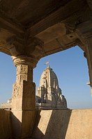 Low angle view of a temple, Kumbha Shyam Temple, Chittorgarh, Rajasthan, India
