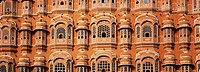 Windows of a palace, Hawa Mahal, Jaipur, Rajasthan, India