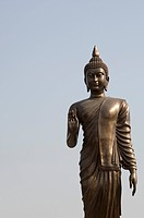 Low angle view of a statue of Buddha, Bodhgaya, Gaya, Bihar, India