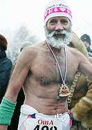 Old men with naked upper body, Siberia