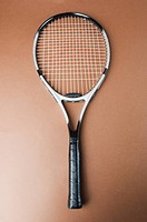 Close_up of a tennis racket
