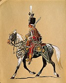 Hungarian Noble Guard on a horse (17th century), Austria