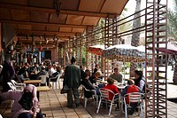 Africa, North Africa, Morocco, Marrakech, Medina, Mellah, Place des Ferblantiers, Outdoor Restaurant