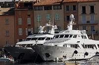 France - Provence-Alpes-Côte d'Azur Region - Saint Tropez. Moored Yachts
