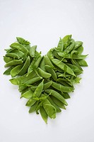 Pea Pods in the Shape of a Heart