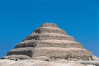 Egypt - Cairo - Ancient Memphis (UNESCO World Heritage List, 1979). Saqqara. Funerary monument to king Djoser 'Step Pyramid'