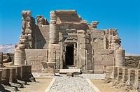 Egypt. Libyan Desert. Al-Dakhilah (Dakhla) Oasis. Dayr al-Haggar. Egyptian temple