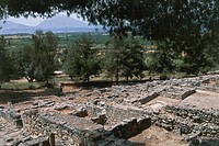 Ruins of the royal villa of Hagia Triada or Agia Triada, Crete, Greece. Minoan civilisation, ca 15th century.