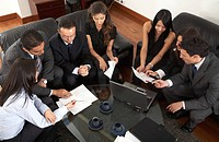 business entrepreneurs in a meeting