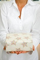 Woman, christmas_gift, detail, carries series, people women_hands gift present surprise, packet, holding, hands over, shows, presents, giving, gift_gi...