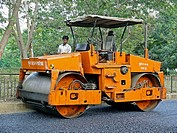 Compactor roller, Road Construction  Pune, Maharashtra, India