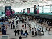 Mexico, Mexico_city, Aeropuerto Internacional, de Ciudad de Mexico, airport_buildings, hall, passengers, Latin America, city, capital, buildings, mode...