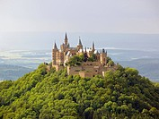 Germany, Baden_Württemberg, Hechingen, castle Hohenzollern, Swabian Alb, rise, castle complex, fortress, 1061, architecture, sight, destination, touri...