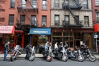 Harley Davidson fans, Greenwich Village, New York City, USA
