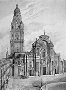 Murcia. Cathedral in 1880´s.