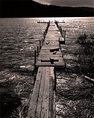 dock, water, lake,
