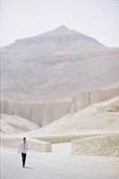 Man Walking in Desert