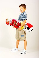 Boy with skateboard, cut out