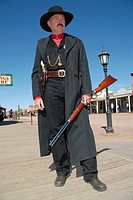 Actor Dressed as Wyatt Earp, Bisbee, Arizona, United States