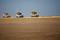 4x4 driving through El Alamein Desert, Egypt
