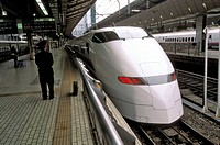 Shinkansen bullet train at Tokyo central station, Japan