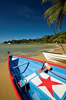 Charming fishing village of Pariatuvier on the Caribbean side of Tobago NR