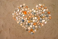 Heart, shell, beach, St. Peter_Ording, Schleswig_H