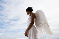 Caribbean  Dominican Republic  Samana Peninsula  Las Terrenas  Woman with angel´s wings