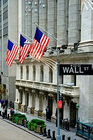 Stock Exchange building, Wall Street, financial district. Manhattan, New York City. USA