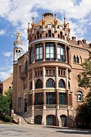 Hospital de la Santa Creu i Sant Pau, Pavilion, Architect Luis Doménech y Montaner, Eixample District, Barcelona, Catalonia, Spain, Unesco World Herit...
