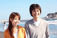 Japanese couple in Enoshima