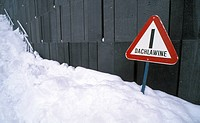 danger, avalanche, cold, caution, calf, frosty, austria