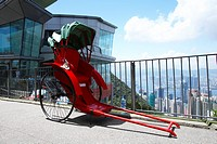 Rickshaw at Peak Tower, Hong Kong
