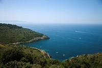 Overlook of Italian coastline