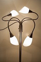 Contemporary lamp twisted in different directions